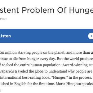 Hunger by Martín Caparros