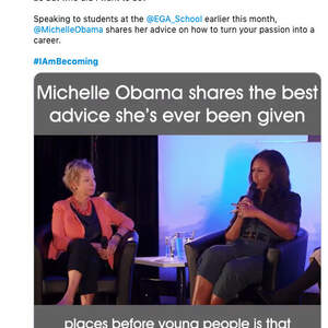 Social media strategy for Michelle Obama's Becoming