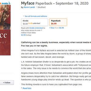 Myface Novella Marketing and Description