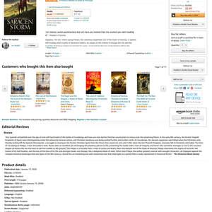 The Saracen Storm Number One Bestseller Status