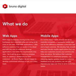 Website copy for web development agency