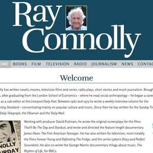 Ray Connolly website - website design