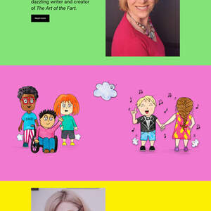 Children's Book Author Website for Author Amy Nystrom