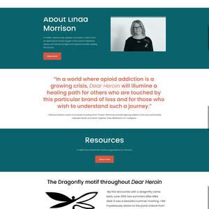 Website for Memoir: Dear Heroin by Linda Morrison