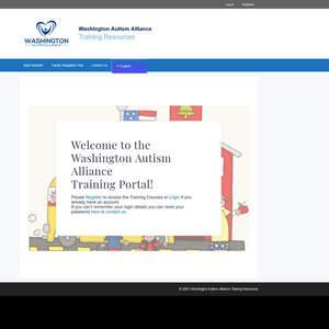 Training Portal for Washington Autism Alliance