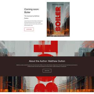 """Matthew Dutton's """"Boiler"""" Website"""