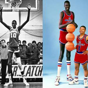 Manute Bol, tallest player in the MBA