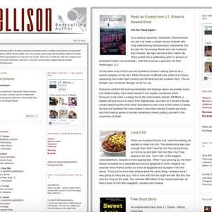 Simon & Schuster: J.T. Ellison microsite + platform building campaign + newsletter blasts