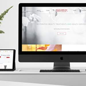 Equilibrium Health and Skincare - website design and development