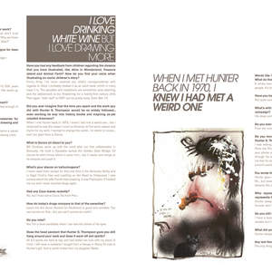 Art example - Ralph Steadman interview (one small seed magazine 2014)