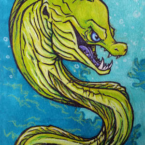 319-Mean-Cool-Green-Moray-Eel-Ocean-Creature-Concept-Cartoon-Sharpie-and-Marker-Drawing-Illustration-pht01Prppd.jpg