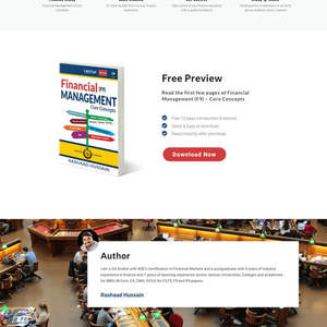 Finance Tutor & Author WordPress Website Design