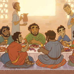 3.10-Peter_at_a_dinner_table_with_a_bunch_of_people._Table_filled_with_all_kinds_of_food.jpg