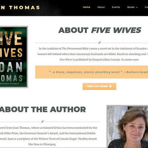 Website for award-winning author Joan Thomas