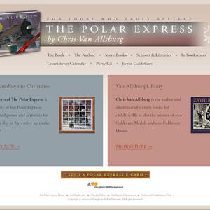 Official website for The Polar Express by Chris Van Allsburg