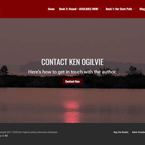 Website for crime fiction author Ken Ogilvie