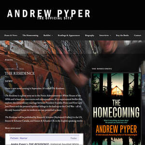 Website for bestselling thriller author Andrew Pyper