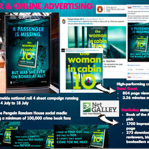 The Woman in Cabin 10 by Ruth Ware (HB campaign)